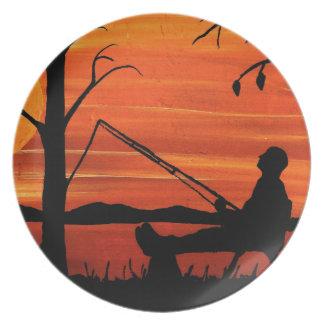 Gone Fishing Plate