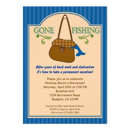 Gone Fishing Retirement Party Invitation