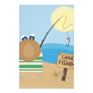 Gone Fishing Stationery