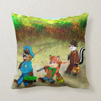 Gone Fishing! Throw Pillow