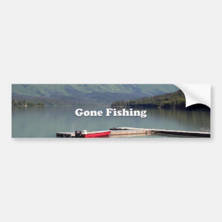 Gone Fishing: Trail Lake, Alaska Bumper Sticker
