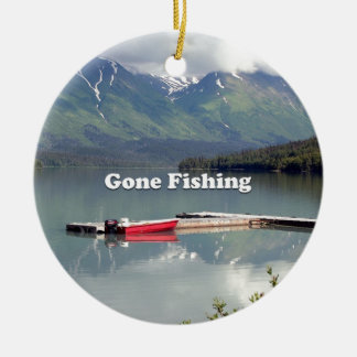 Gone Fishing: Trail Lake, Alaska Ceramic Ornament