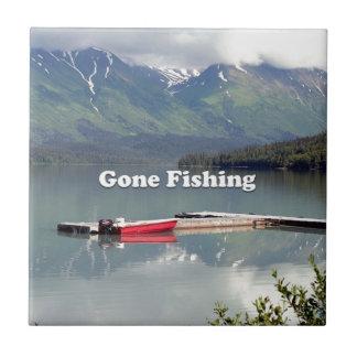 Gone Fishing: Trail Lake, Alaska Ceramic Tiles