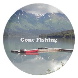 Gone Fishing: Trail Lake, Alaska Dinner Plate