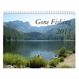 Gone Fishing Wall Calendar