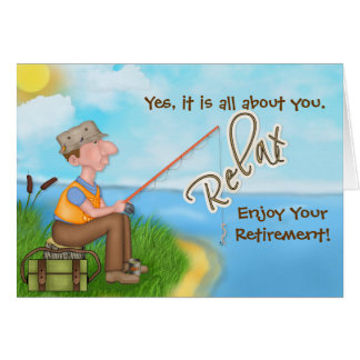 Gone Fishing - with Verse - Retirement Greeting Card
