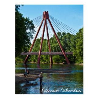 Gone Fish'n in East Fork White River Postcard