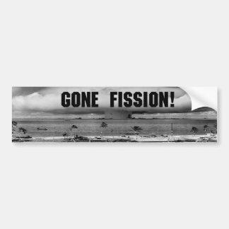 Gone Fission! Bumper Sticker