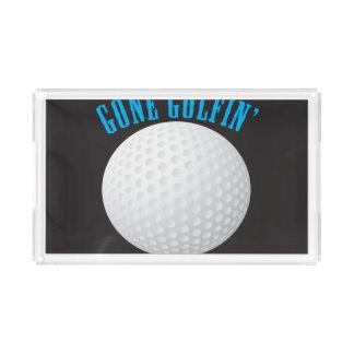 Gone Golfing Serving Tray