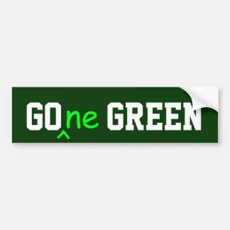 GOne GREEN bumper sticker