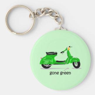 gone green scooter basic round button keychain