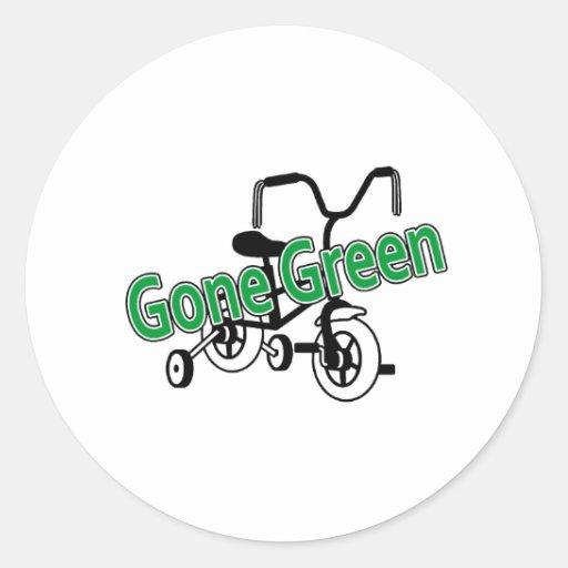 Gone Green (Tricycle) Round Sticker