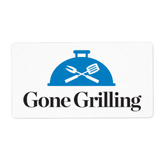 Gone Grilling Shipping Label