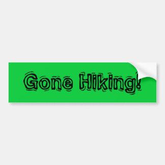 Gone Hiking! Bumper Sticker