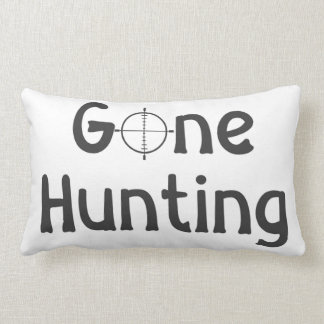 """""""GONE HUNTING"""" TOSS PILLOW"""