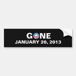 GONE JANUARY 20, 2013 BUMPER STICKER