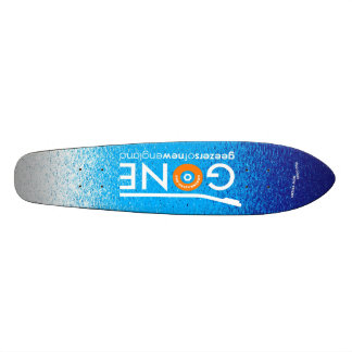GONE logo cruiser Custom Skateboard