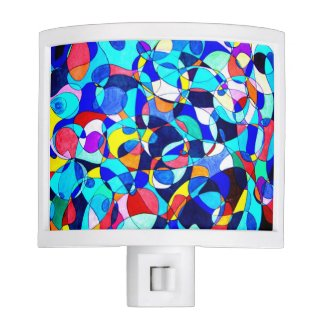 Gone Loopy Abstract Art night light