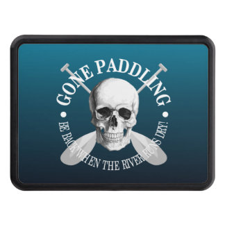 Gone Paddling (Skull) Trailer Hitch Cover