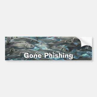 Gone Phishing sign Bumper Sticker