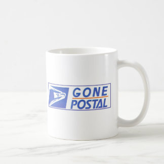 GONE POSTAL COFFEE MUG