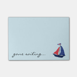 Gone Sailing Post-it Notes