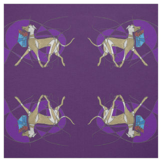 Gone Shopping, Art Deco Italian Greyhound Mirrored Fabric