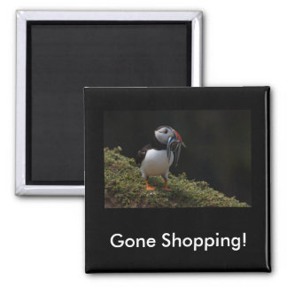 Gone Shopping Fisher Puffin Magnet