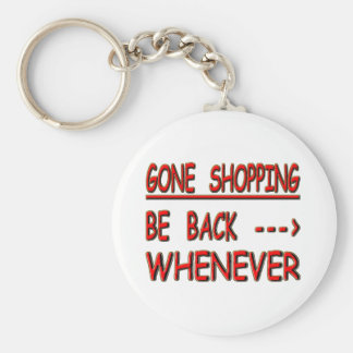 gone shopping keychain