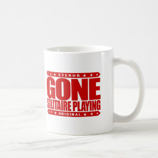 GONE SOLITAIRE PLAYING - I Am Undefeated Champion Coffee Mug