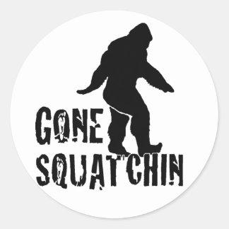 Gone Squatchin 2 Round Sticker