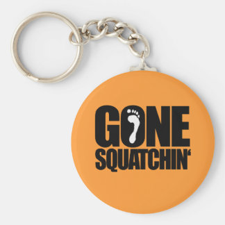 GONE SQUATCHIN' BASIC ROUND BUTTON KEYCHAIN