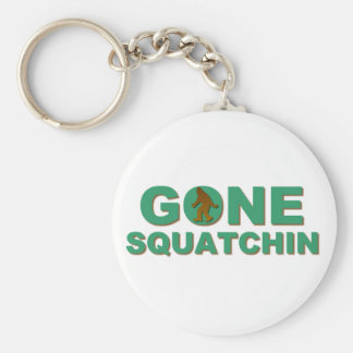 Gone Squatchin Basic Round Button Keychain