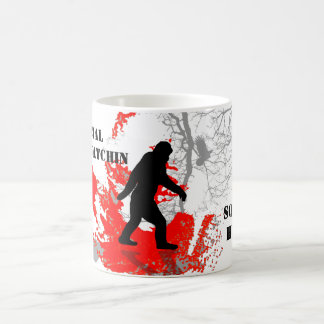 Gone Squatchin, black bigfoot Coffee Mug
