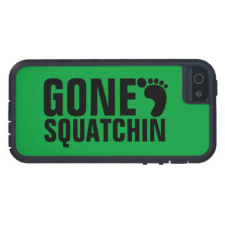 GONE SQUATCHIN BLACK GREEN iPhone 5 CASE
