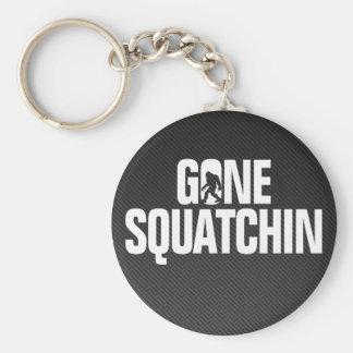 Gone Squatchin - Black / White Silhouette Keychain