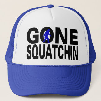 Gone Squatchin (blue logo) Trucker Hat