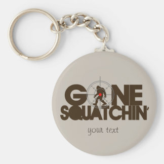 Gone Squatchin - Brown and tan Basic Round Button Keychain