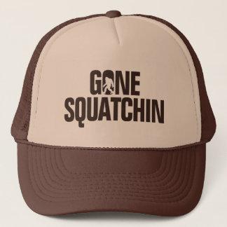 Gone Squatchin - Brown / tan Silhouette Trucker Hat