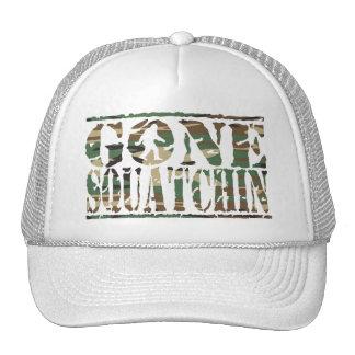 Gone Squatchin Camo Font Trucker Hat