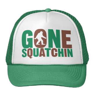 Gone Squatchin Camo Letters Hat