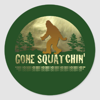 Gone Squatchin' Classic Round Sticker