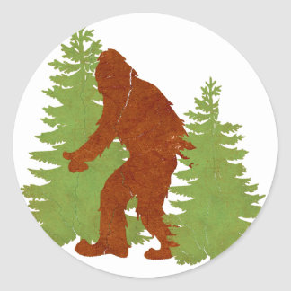 Gone Squatchin Classic Round Sticker