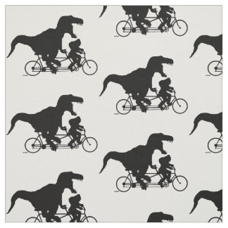Gone Squatchin cycling with T-rex Fabric
