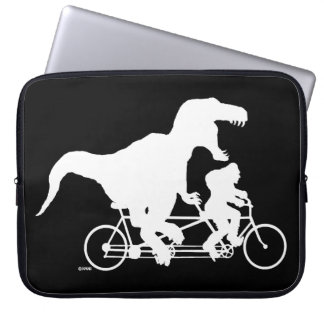 Gone Squatchin cycling with T-rex Laptop Sleeve