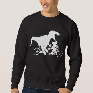 Gone Squatchin cycling with T-rex Sweatshirt