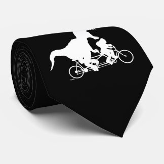 Gone Squatchin cycling with T-rex Tie