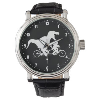 Gone Squatchin cycling with T-rex Watch