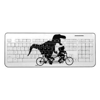 Gone Squatchin cycling with T-rex Wireless Keyboard
