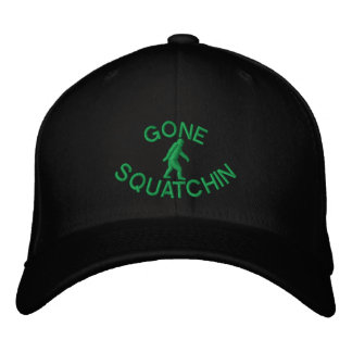Gone squatchin embroidered hat